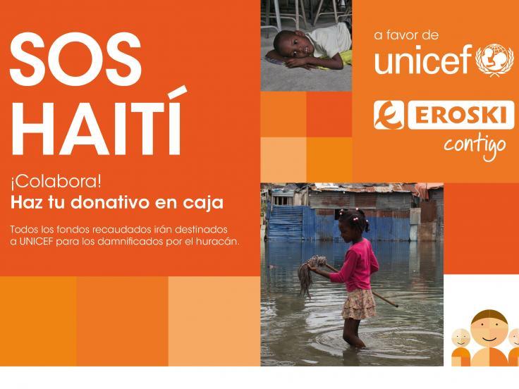 La campaña organizada por EROSKI para recabar fondos para los damnificados por el huracán Matthew en Haití recauda €75.000
