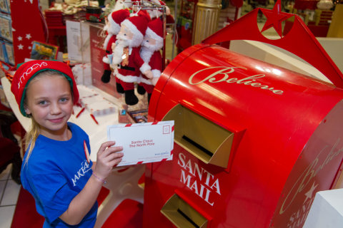 Macy's brings back its cherished letter writing program the 9th annual Believe campaign to benefit Make-A-Wish