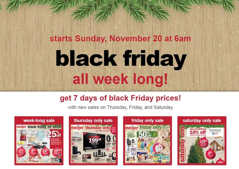Meijer offers sneak peek at its upcoming, week-long Black Friday deals
