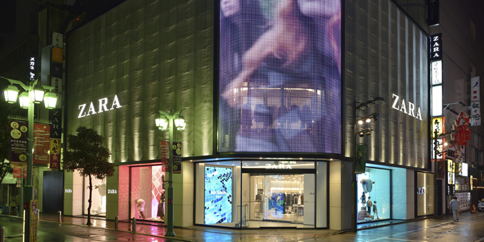 Zara reopens its store in Tokyo's Shinjuku following extensive refurbishment and expansion
