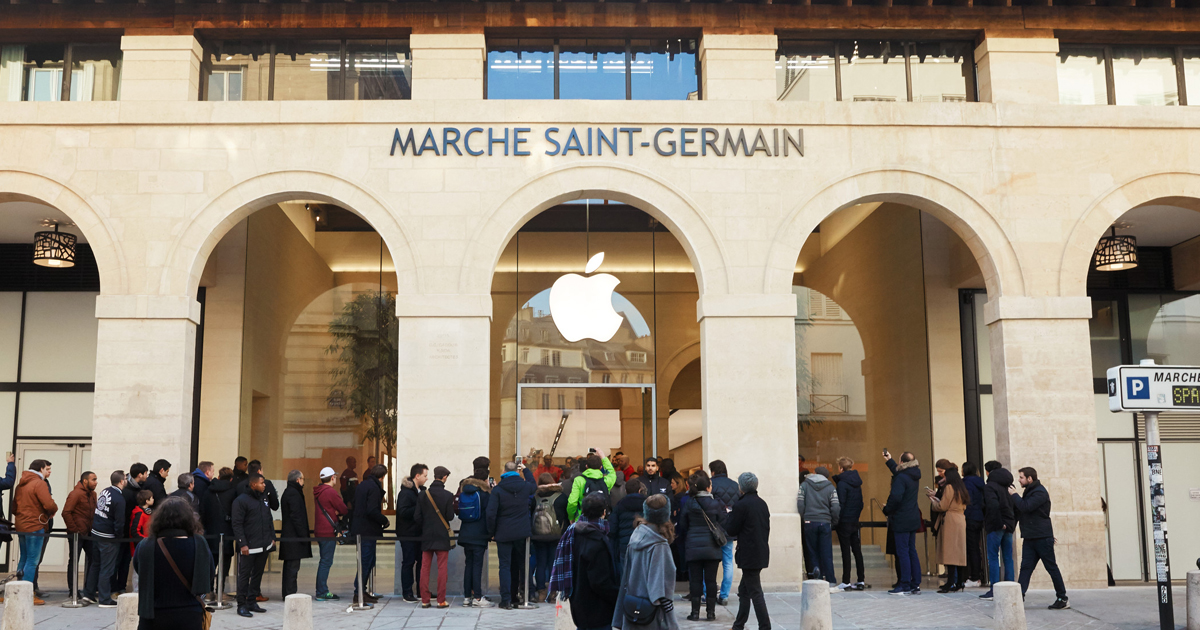 Apple opens its third store in Paris — Apple Marché Saint-Germain