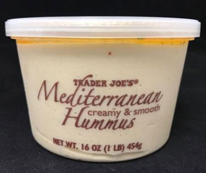 Bakkavor Foods USA, Inc. recalls Certain Trader Joe's Hummus Products due to potential contamination of Listeria