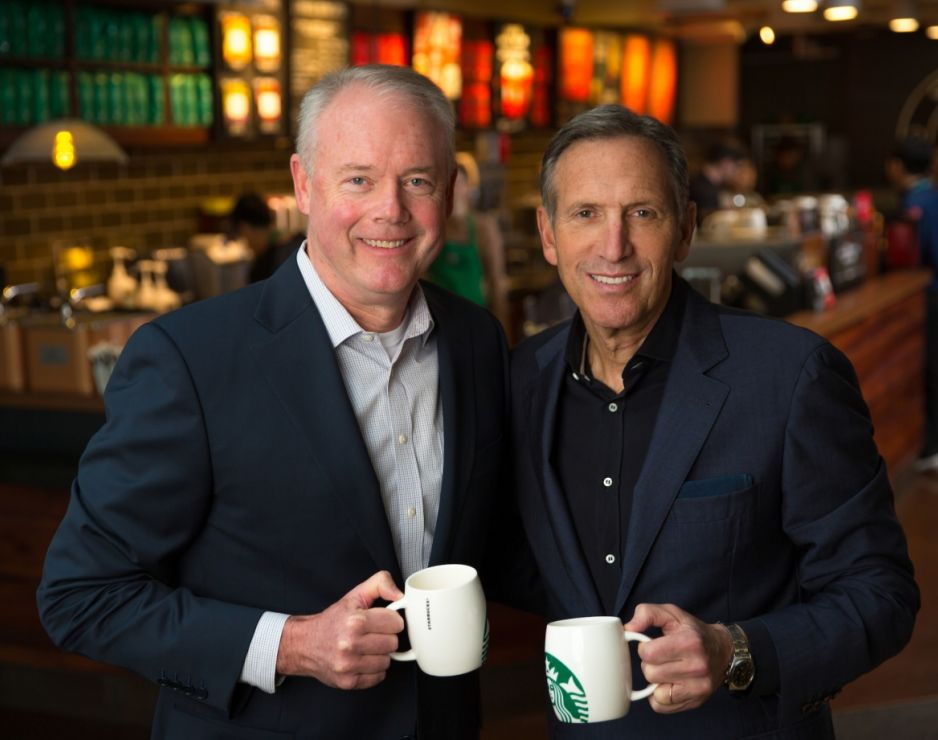 Starbucks Corporation announces that Kevin Johnson to become CEO; Howard Schultz to become executive chairman