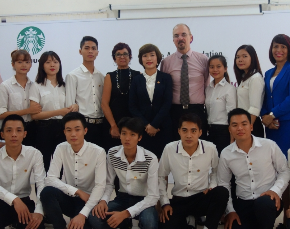 Starbucks Vietnam and The Asia Foundation to prepare disadvantaged young people for careers in Vietnam's fast-growing food and beverage industry