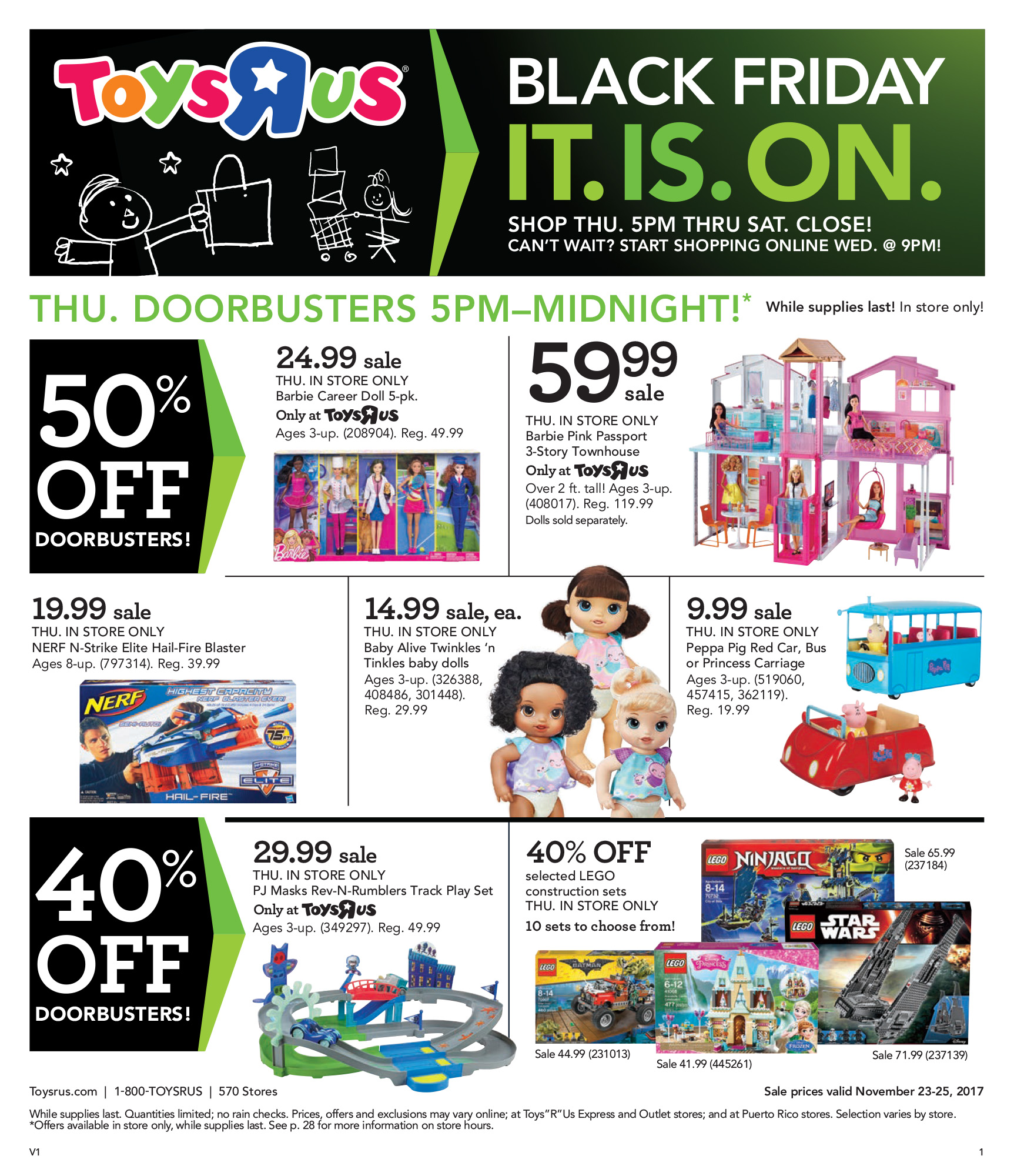 Epr retail news toysrus kicks off holiday shopping season with toysrus kicks off holiday shopping season with discounts on hundreds of toy and baby products this sunday falaconquin